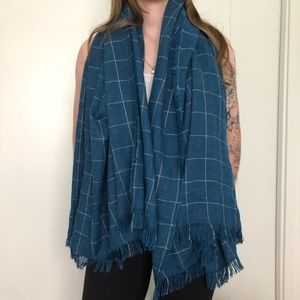 NWOT aritzia striped blanket scarf